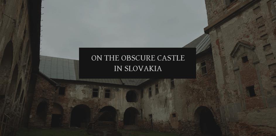On the dark medieval castle in Moravia