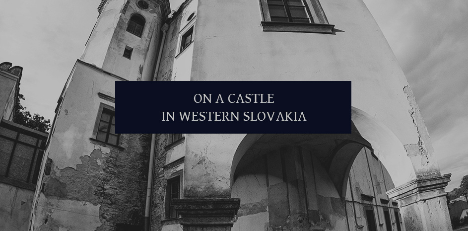 On the dark medieval castle in Moravia
